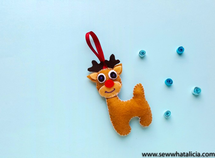 finished reindeer ornament