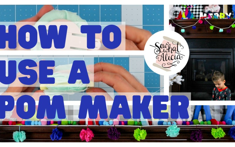 How to Use a Pom Pom Maker – Fabric Bunting
