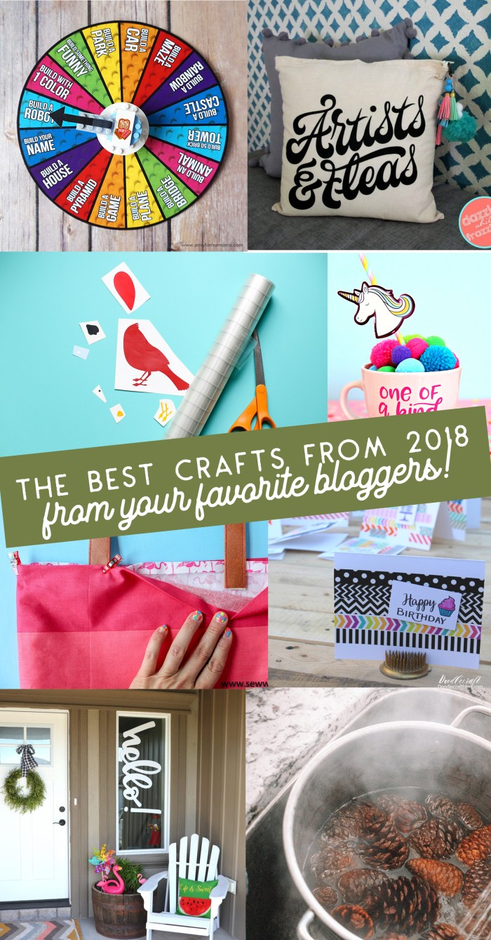 Best Crafts of 2018 - What were the most popular crafts this year? Come check them all out!   www.sewwhatalicia.com
