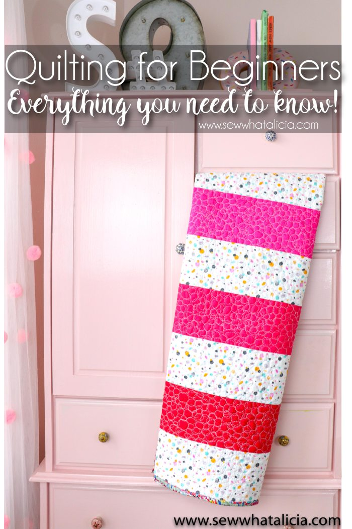 Quilting for Beginners: Plus a free pattern: If you are new to quilting this post is perfect for you. Everything you need to know. This is the perfect post to learn quilting for beginners.   www.sewwhatalicia.com