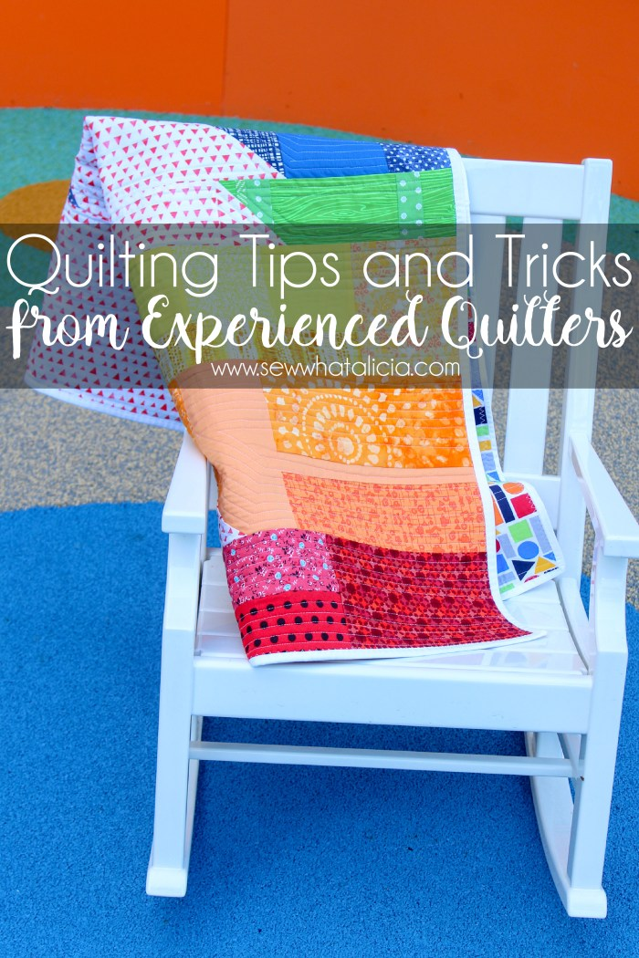 Quilting Tips and Tricks from Experience Quilters: I asked all the best quilters I know for their quilting tips and tricks. Click through for all the best quilting tips. | www.sewwhatalicia.om
