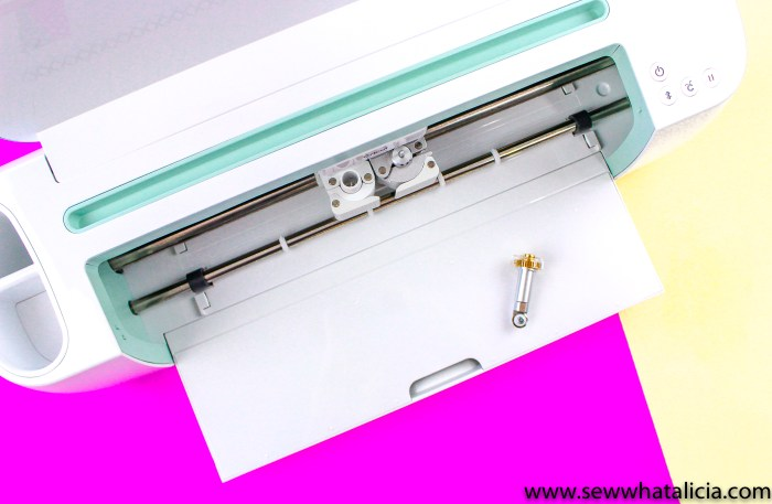 pictured: mint cricut maker with rotary cutter