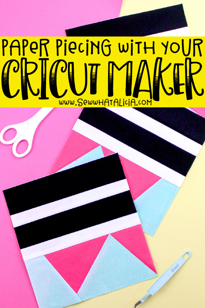 How to Use a Cricut Maker with Fabric: Learn yo use your Cricut Maker with fabric with this quilt block tutorial. Cut all your pieces with the Maker for a quick and easy quilting project. | www.sewwhatalicia.com