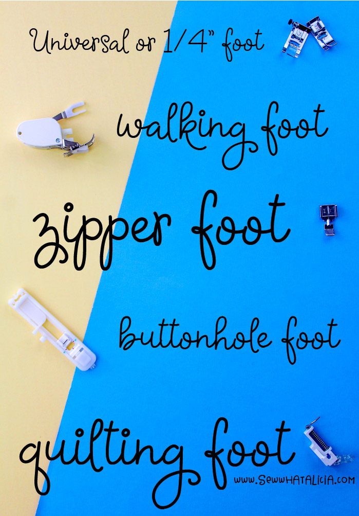 Sewing machine feet A Beginner's Guide: If you are totally confused by all those feet that came with your machine let me break them all down for you! Want to know what they are for, click through for all the details! | www.sewwhatalicia.com