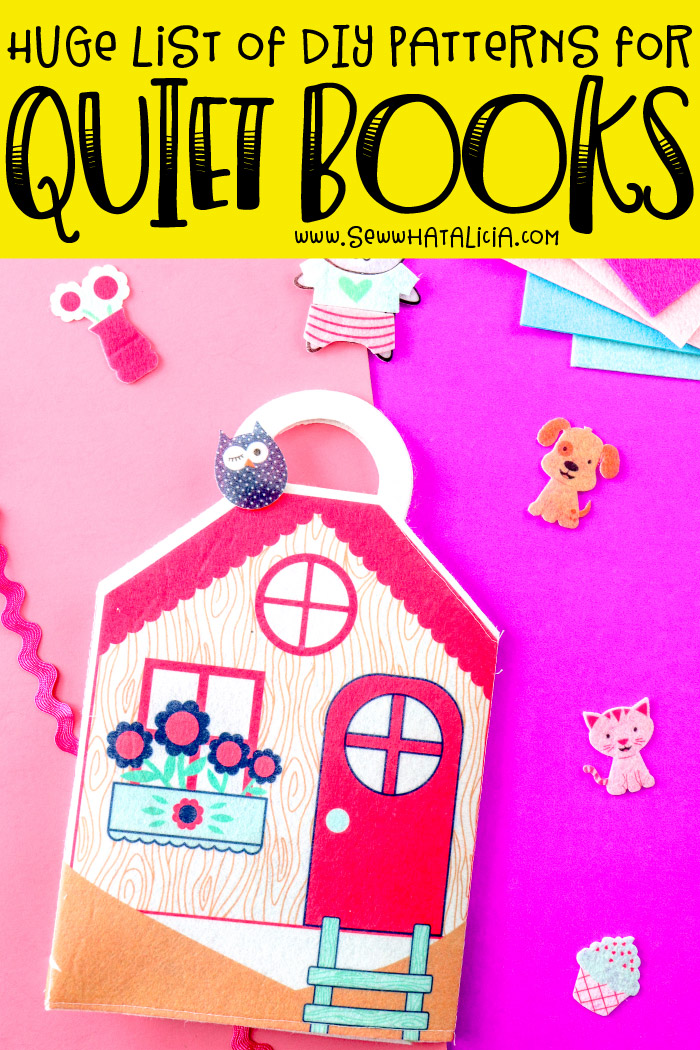 Huge List of Quiet Book Patterns for Toddlers: Make one of these super fun quiet book patterns for toddlers today with this huge list of patterns. Both sew and no sew patterns included!! Click through for all the fun ideas! | www.sewwhatalicia.com