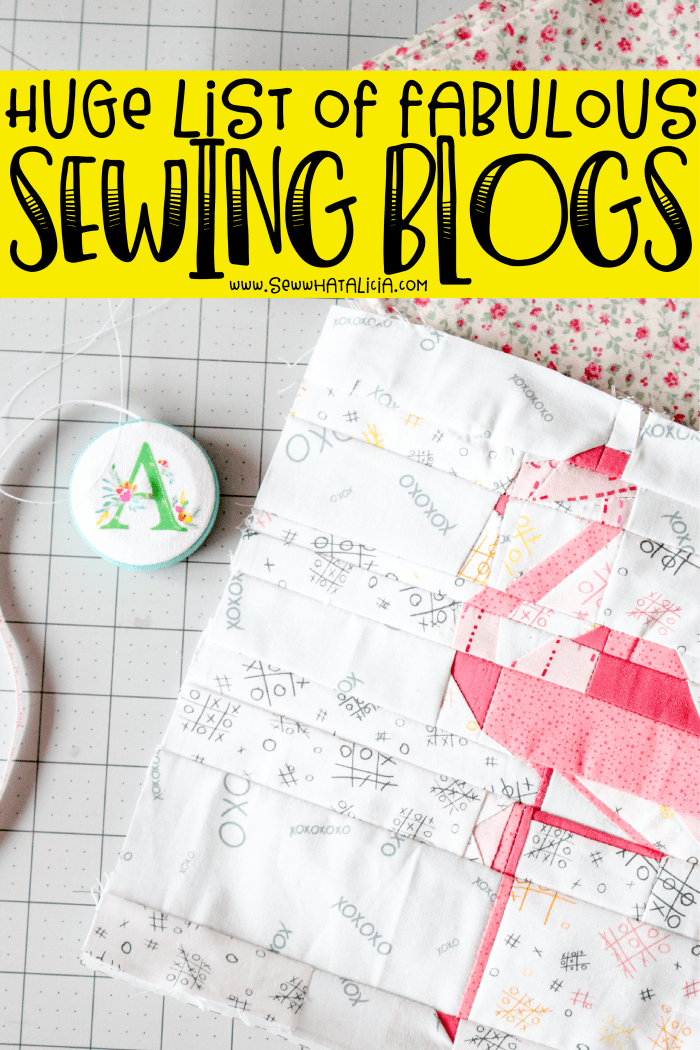 Sewing Blogs: A huge list of great sewing blogs from across the internet in all sewing categories. Click through for a great list of my favorite sewing blogs. | www.sewwhatalicia.com