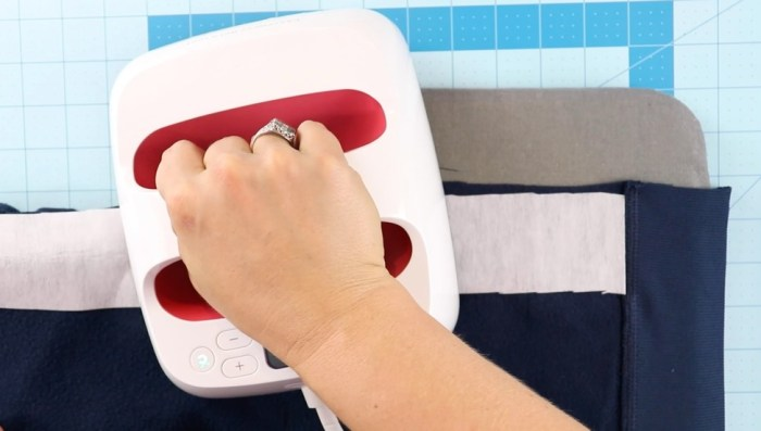 pictured easypress iron on fusible interfacing and sweatshirt