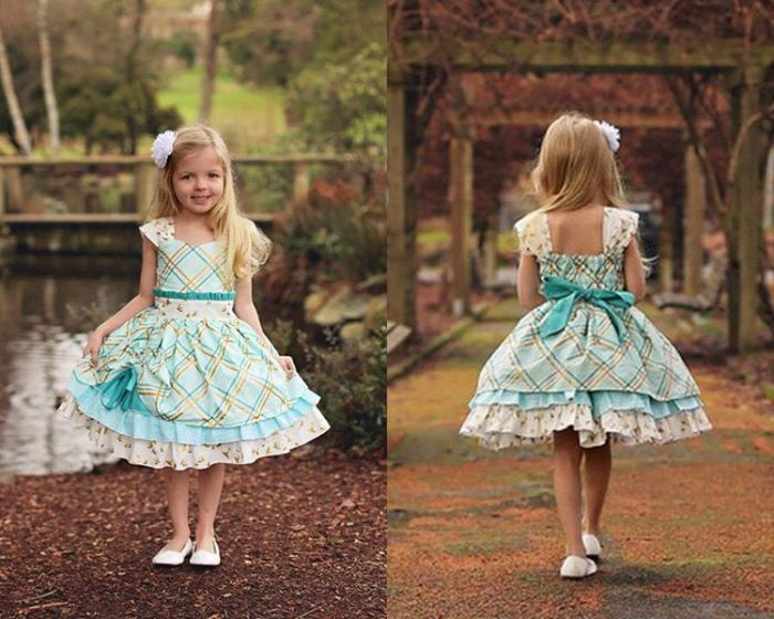 pictured front and back of fancy party dress