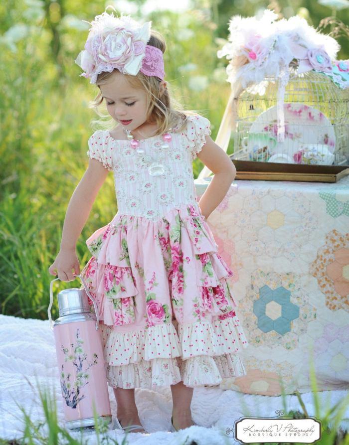pictured girl in sugarplum princess dress
