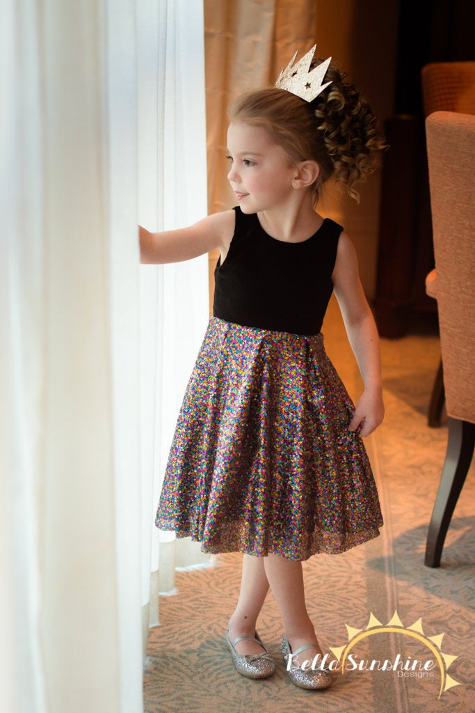pictured young girl in rebel girl party dress