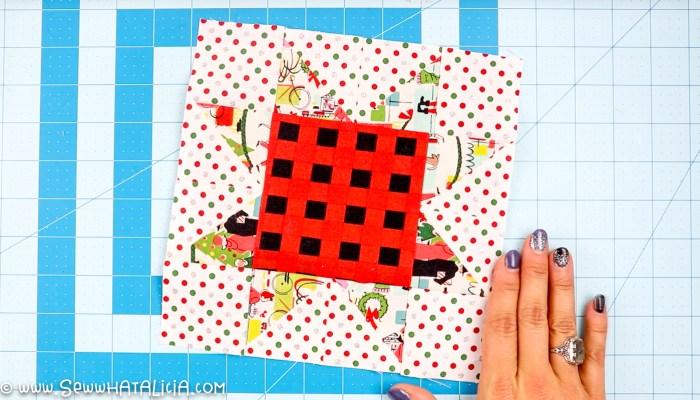 pictured star quilt block