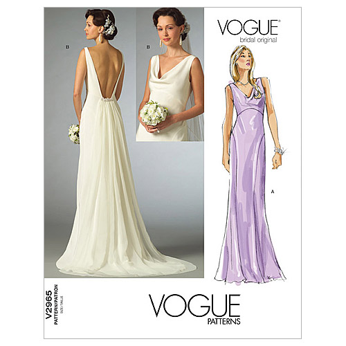 pictured vogue wedding dress pattern