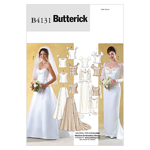 pictured butterick wedding dress pattern