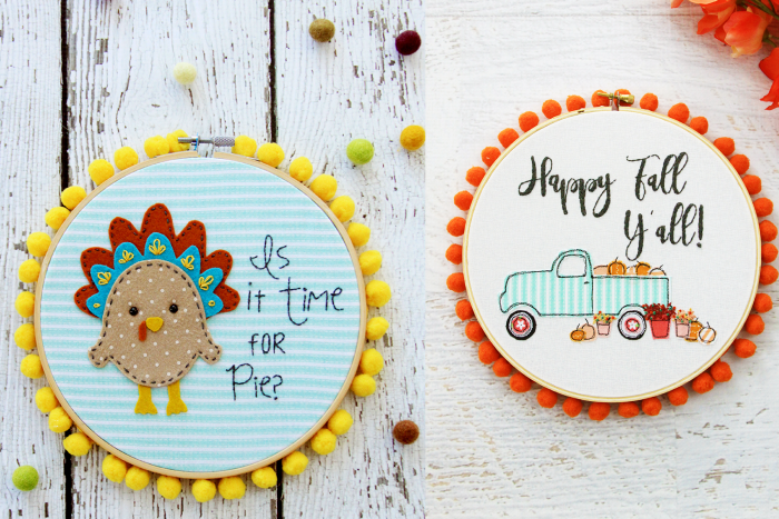 Fun Fall Embroidery Patterns and Kits: Check out this huge list of fall embroidery designs and fall embroidery patterns. This post has all the fall embroidery ideas you will need to create something special. Click through for a huge list.| www.sewwhatalicia.com