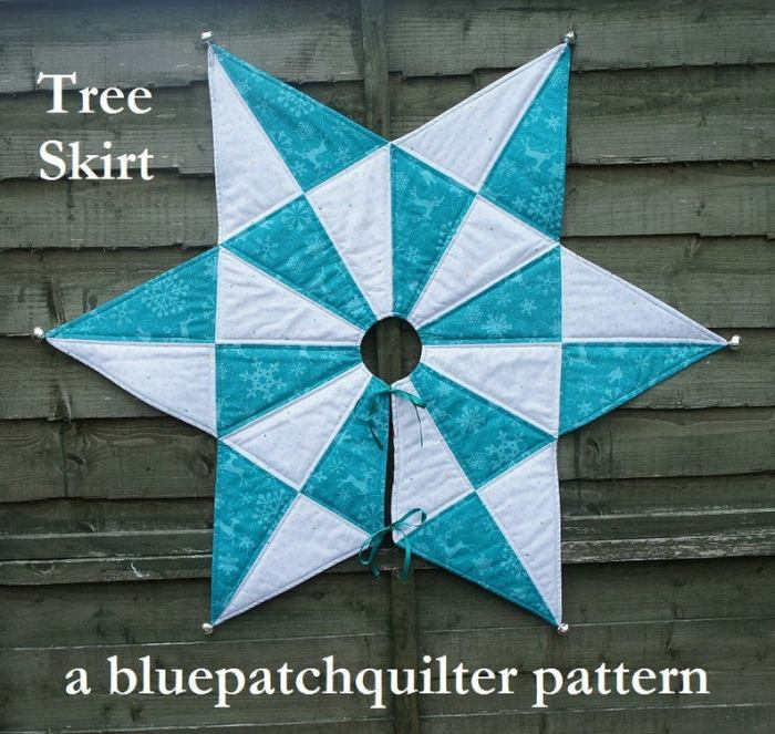 star shaped quilted tree skirt