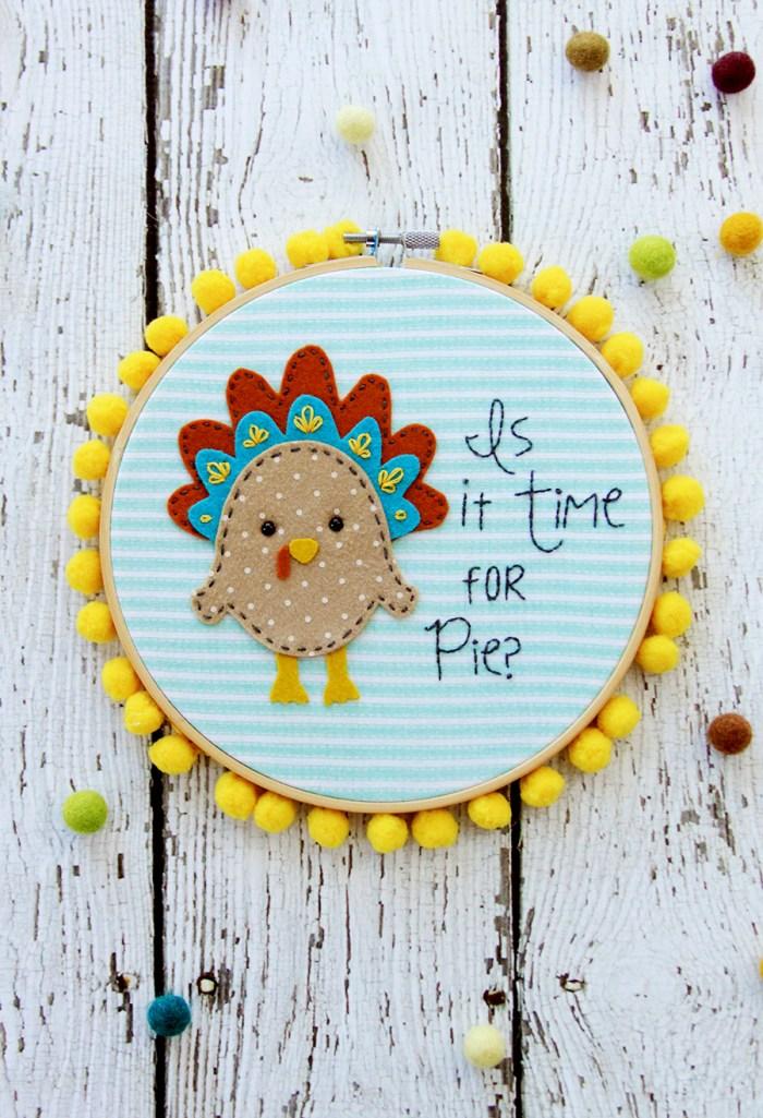 turkey embroidery hoop