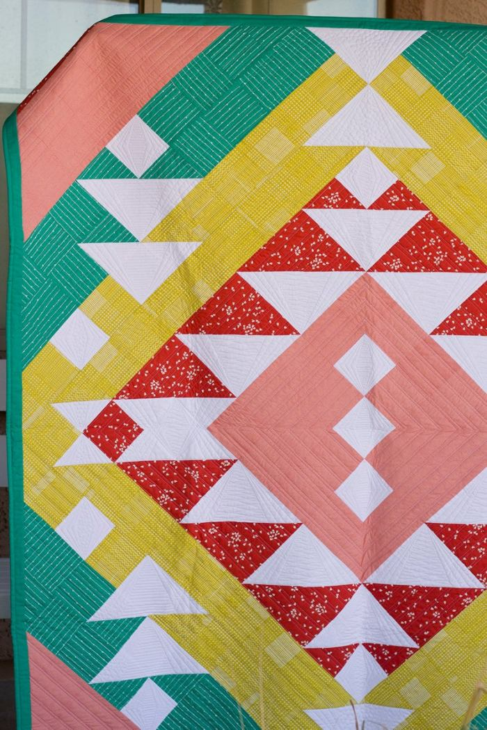 pictured colorful modern southwest quilt