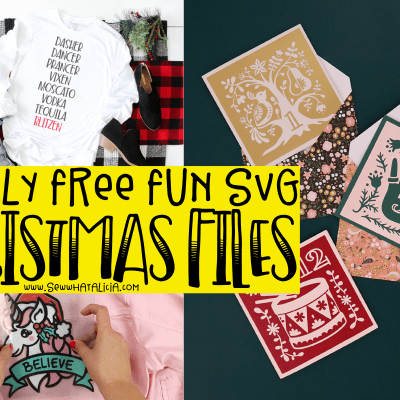 Mostly Free Christmas SVG Files: Check out this huge list of awesome and mostly free SVG cut files. Click through for the full list. | www.sewwhatalicia.com