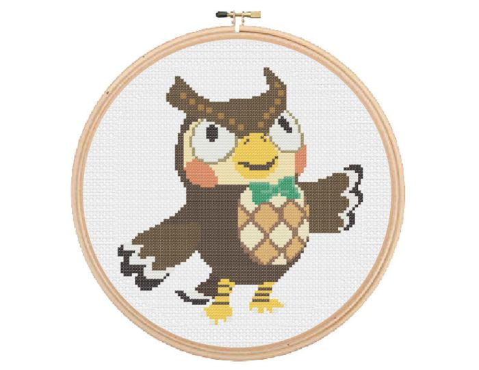 pictured blathers from animal crossing