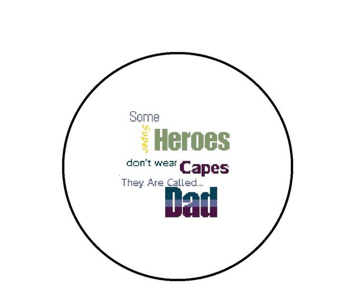 pictured superhero dad cross stitch digital mockup