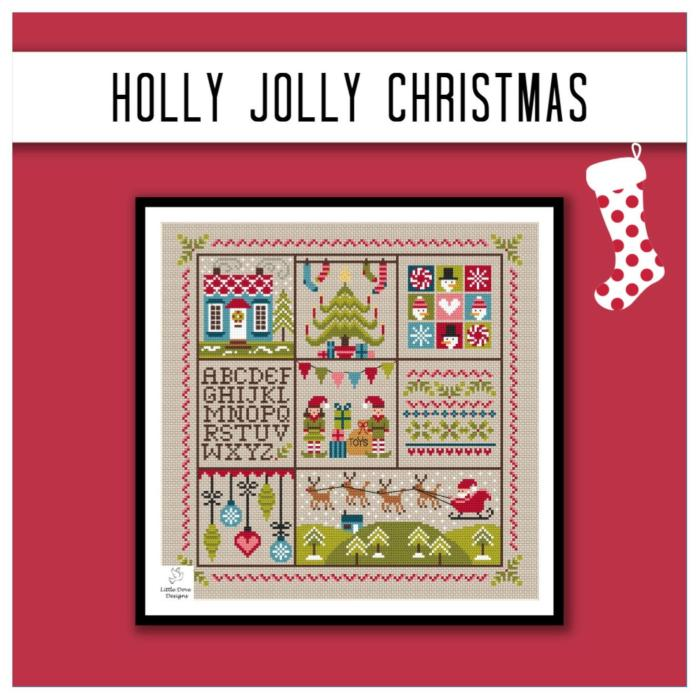 holly jolly christmas sampler
