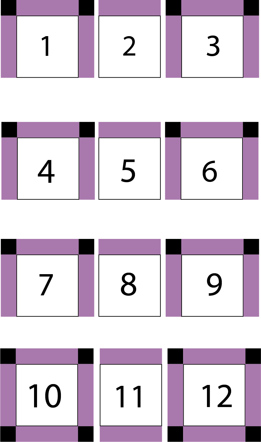 diagram of third step in quilt assembly