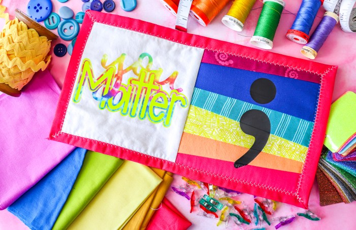 you matter mini quilt on top of sewing notions