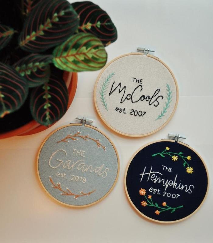 Embroidery Hoop Art from Holland Co Studio on Etsy