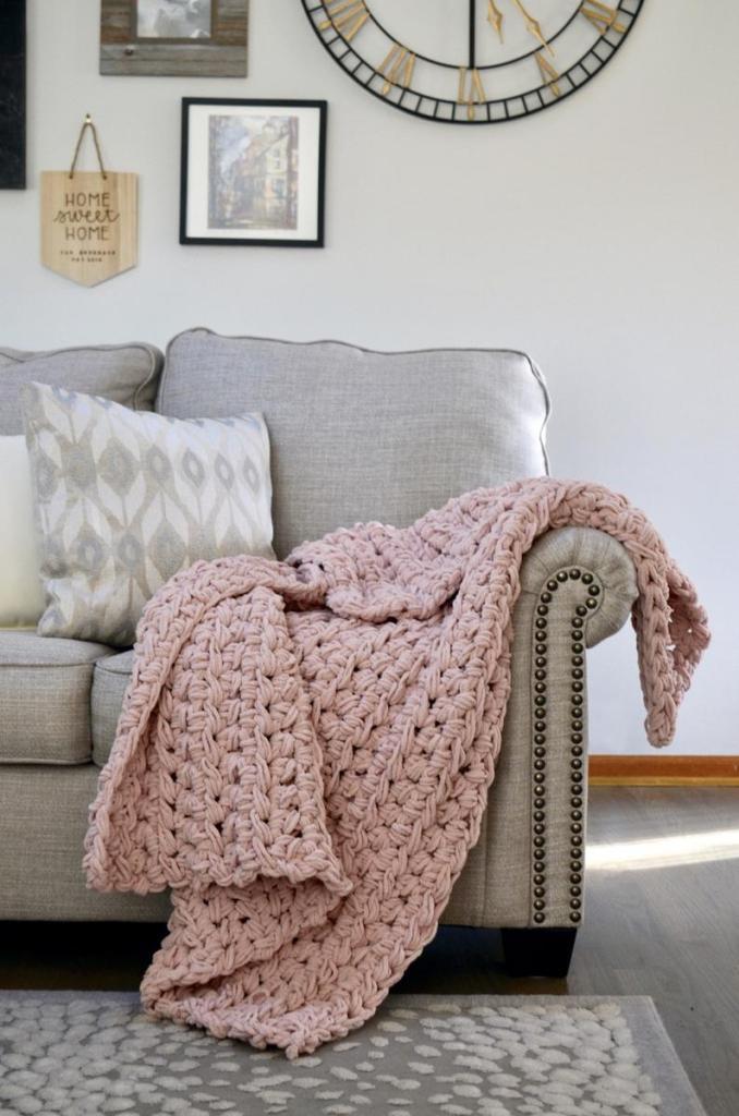 Queen Size Heavy Handmade Crochet Blanket