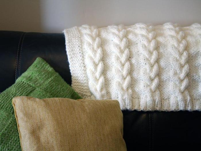 Handmade Knitted Wool Blanket