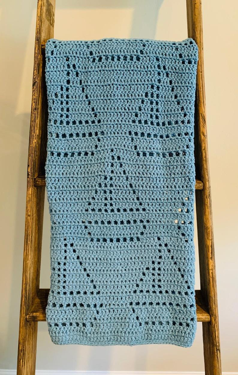 Sailboat Crochet Baby Blanket
