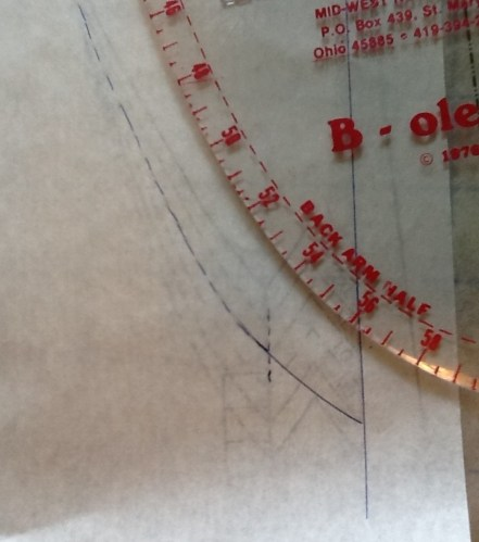 using dressmakers curve for neckline