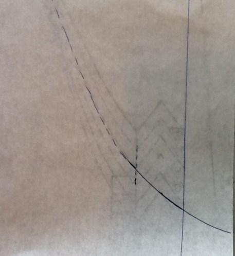 drawn curve