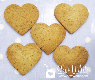 the finished Lavender and Lady Grey Biscuits