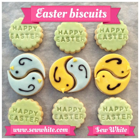 Sew White Easter Word Bird Biscuits 7