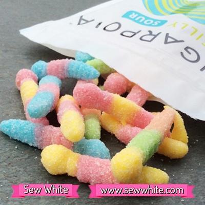 Sew White Sugarpova Sharapova silly sours 2