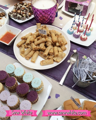 Sew White surprise wedding anniversary party food 8