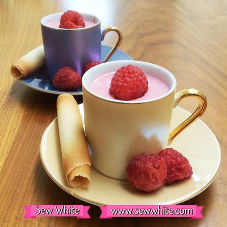 Sew White summer raspberry fool 2
