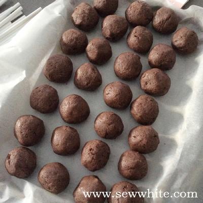 Rangemaster cake pops chocolate week Sew White 5