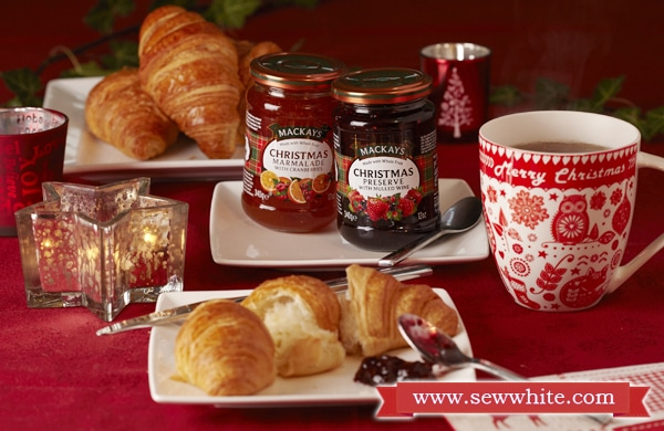 Sew White Christmas 2014 food and drink 1 mackays jam