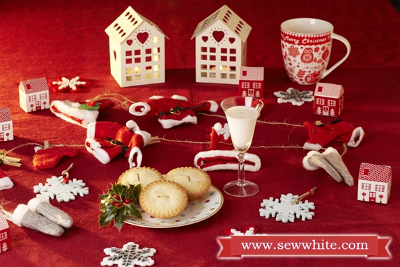 Sew White Christmas 2014 food and drink 19 mince pies christmas eve