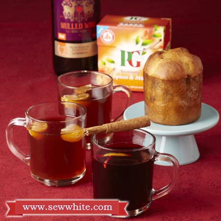 Sew White Christmas 2014 food and drink 7 mulled wine