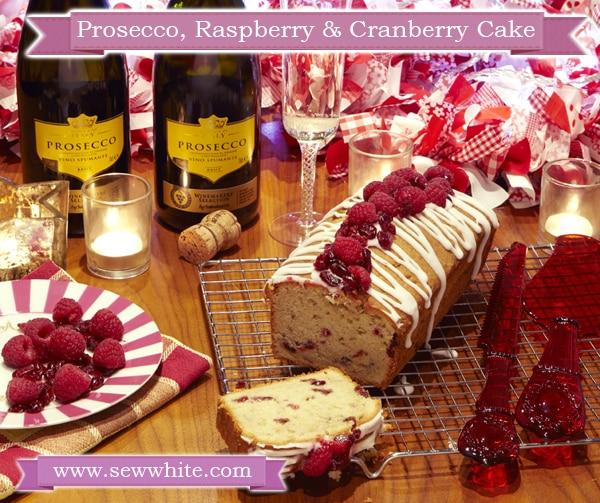 Sew White Sisley White Prosecco raspberry and cranberry Christmas cake 2