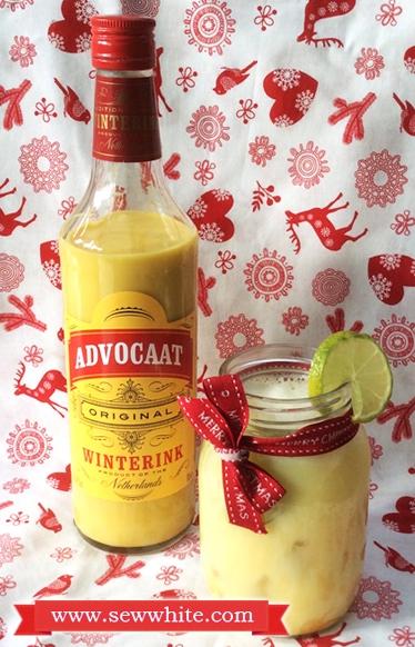 Sew White Christmas cocktails Aldi Advocaat 3
