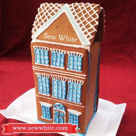 Sew White Georgian town house gingerbread 1