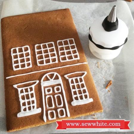 Sew White Georgian town house gingerbread 8