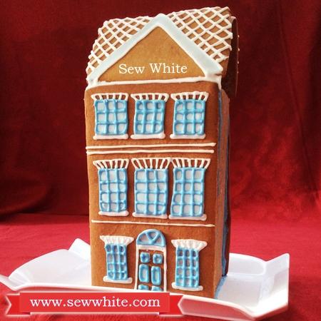 Sew White Georgian town house gingerbread 9