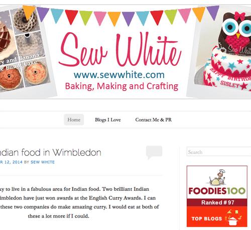 Sew White top 100 foodies 100 1