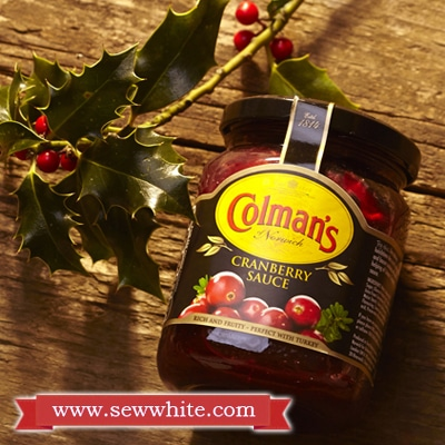 sew white cranberry sauce coleman's