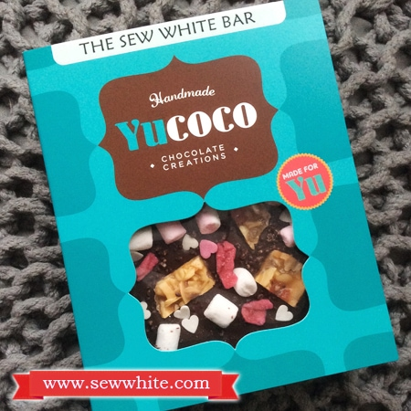 Sew White Yucoco personalised chocolate bar 1